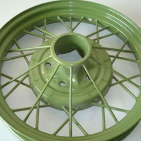 Model A Wheel Powder Coat (Color: Apple Green)