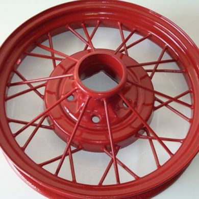 Model A Wheel Powder Coat (Color: Aurora Red)