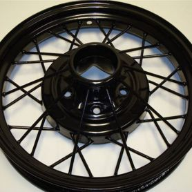 Model A Wheel Powder Coat (Color: Black)