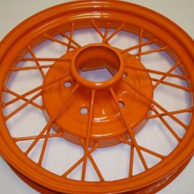 Model A Wheel Powder Coat (Color: Orange)