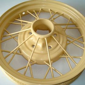 Model A Wheel Powder Coat (Color: Tacoma Cream)